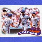 1989 Topps Baseball #291 Darryl Strawberry / Keith Hernandez / Kevin McReynolds / New York Mets TL
