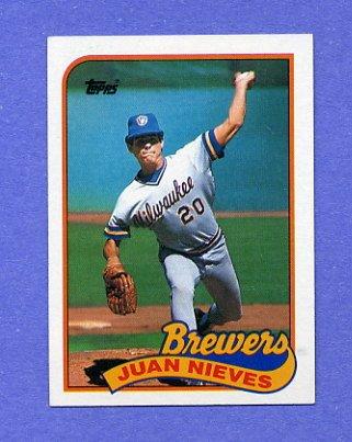 1989 Topps Baseball #287 Juan Nieves - Milwaukee Brewers