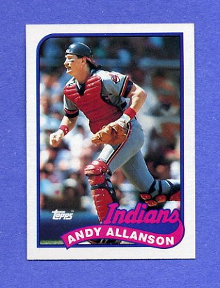 1989 Topps Baseball #283 Andy Allanson - Cleveland Indians