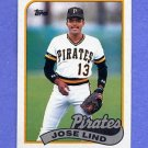 1989 Topps Baseball #273 Jose Lind - Pittsburgh Pirates