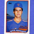 1989 Topps Baseball #257 Rick Aguilera - New York Mets