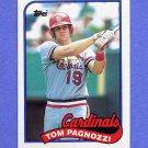 1989 Topps Baseball #208 Tom Pagnozzi - St. Louis Cardinals
