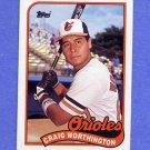 1989 Topps Baseball #181 Craig Worthington - Baltimore Orioles ExMt