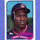 1989 Topps Baseball #173 Mel Hall - Cleveland Indians NM-M