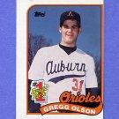 1989 Topps Baseball #161 Gregg Olson RC - Baltimore Orioles