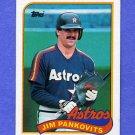 1989 Topps Baseball #153 Jim Pankovits - Houston Astros NM-M