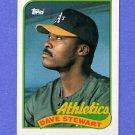 1989 Topps Baseball #145 Dave Stewart - Oakland A's