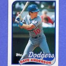1989 Topps Baseball #117 Dave Anderson - Los Angeles Dodgers