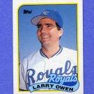 1989 Topps Baseball #087 Larry Owen - Kansas City Royals