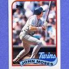 1989 Topps Baseball #072 John Moses - Minnesota Twins