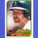 1989 Topps Baseball #047 Carney Lansford - Oakland A's NM-M