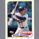 1989 Topps Baseball #038 Paul Runge - Atlanta Braves Ex