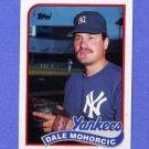 1989 Topps Baseball #026 Dale Mahorcic - New York Yankees