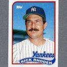 1989 Topps Baseball #018 Rick Rhoden - New York Yankees ExMt