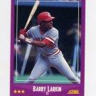 1988 Score Baseball #072 Barry Larkin - Cincinnati Reds