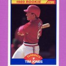 1989 Score Baseball #649 Tim Jones - St. Louis Cardinals NM-M