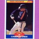 1989 Score Baseball #643 Cameron Drew - Houston Astros