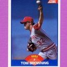 1989 Score Baseball #554 Tom Browning - Cincinnati Reds