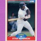 1989 Score Baseball #519 Stan Jefferson - San Diego Padres