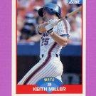 1989 Score Baseball #464 Keith A. Miller - New York Mets