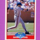 1989 Score Baseball #456 Barry Lyons - New York Mets