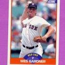 1989 Score Baseball #412 Wes Gardner - Boston Red Sox