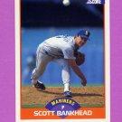 1989 Score Baseball #341 Scott Bankhead - Seattle Mariners