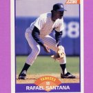 1989 Score Baseball #296 Rafael Santana - New York Yankees