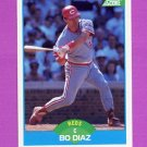 1989 Score Baseball #187 Bo Diaz - Cincinnati Reds