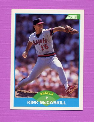 1989 Score Baseball #181 Kirk McCaskill - California Angels