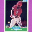 1989 Score Baseball #088 Willie McGee - St. Louis Cardinals