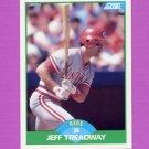 1989 Score Baseball #086 Jeff Treadway - Cincinnati Reds
