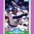 1989 Score Baseball #077 Dave Martinez - Chicago Cubs