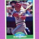 1989 Score Baseball #068 Bob Horner - St. Louis Cardinals
