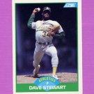 1989 Score Baseball #032 Dave Stewart - Oakland A's