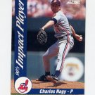 1992 Score Baseball Impact Players #19 Charles Nagy - Cleveland Indians