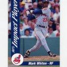 1992 Score Baseball Impact Players #15 Mark Whiten - Cleveland Indians