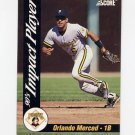 1992 Score Baseball Impact Players #07 Orlando Merced - Pittsburgh Pirates