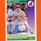 1992 Score Baseball #351 Mike Aldrete - Cleveland Indians