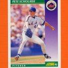1992 Score Baseball #332 Pete Schourek - New York Mets