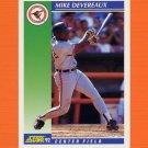 1992 Score Baseball #036 Mike Devereaux - Baltimore Orioles