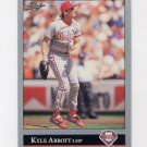 1992 Leaf Baseball #495 Kyle Abbott - Philadelphia Phillies