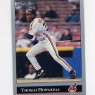 1992 Leaf Baseball #456 Thomas Howard - Cleveland Indians
