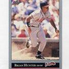 1992 Leaf Baseball #374 Brian Hunter - Atlanta Braves