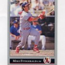 1992 Leaf Baseball #371 Mike Fitzgerald - California Angels