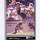 1992 Leaf Baseball #226 Greg Olson - Atlanta Braves