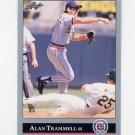 1992 Leaf Baseball #172 Alan Trammell - Detroit Tigers
