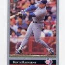 1992 Leaf Baseball #093 Kevin Reimer - Texas Rangers