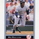 1992 Leaf Baseball #088 Mel Hall - New York Yankees