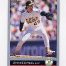 1992 Leaf Baseball #032 Steve Chitren - Oakland A's